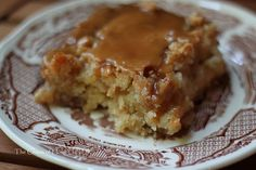 Caramel Apple Cake from Paula Deen.  Rating 10/10. I also cut the caramel topping recipe in half and it was plenty.  It does get better ever day. Very rich and moist.  You will need a big glass of milk when you eat this LOL