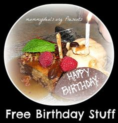 Birthday Freebies from Mummy Deals is a list of all the free birthday goodies you can get!