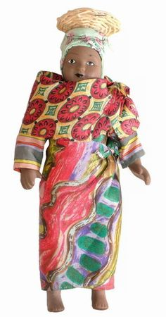 Porcelain Doll in Traditional Malagasy Costume: Dolls of the World Collection