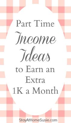 part time income ideas for moms