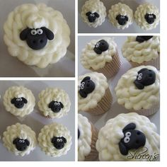 Shaun the sheep easter cupcakes :)