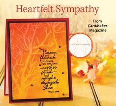 Heartfelt Sympathy from the Autumn 2014 issue of CardMaker Magazine. Order a digital copy here: http://www.anniescatalog.com/detail.html?code=AM5254