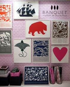 Prints from Banquet (via Design Sponge)