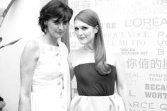 Inès de la Fressange & Julianne Moore - Cannes 2013.