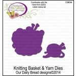 Our Daily Bread Designs Knitting Basket and Yarn Dies