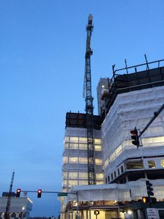 This Boston crane is particularly stunning at twilight.