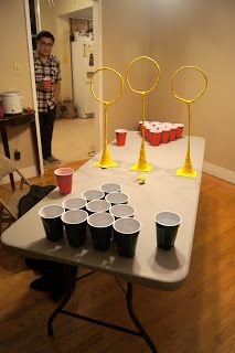 Harry Potter Quidditch & Beer Pong!! YES!