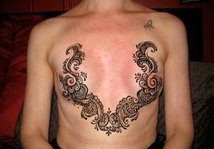 Mastectomy tattoo. Scar coverage tattoo. ( p-ink.org) neat placement!