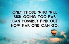 Take a risk