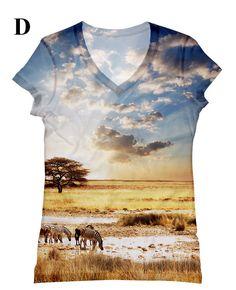 woman beautiful safari scenery print top with tree by hellominky, $28.95