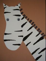 Zebra Footprint Craft