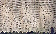 Patrones primaverales para cortinas a crochet