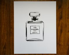 Chanel N 5 - Fashion Illustration Print - 8 x 10. $20.00, via Etsy.
