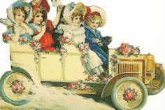 girls in a car by in pastel, via Flickr