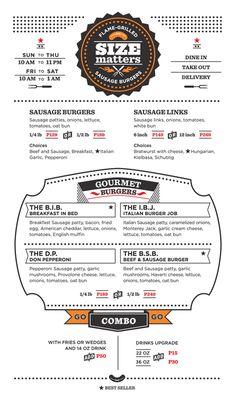 Art of the Menu: Size Matters, menu design