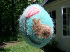 Felt your own Easter eggs