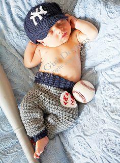 Newborn baseball cap pants