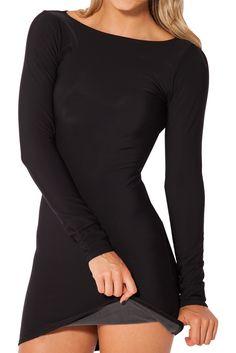 Warm Grey Long Sleeve Dress by Black Milk Clothing $90AUD