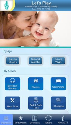 The Let's Play app provides parents and grandparents with fun ideas for keeping babies and toddlers entertained and learning, especially during daily routines like commuting time, chores, bedtime and bathtime, mealtime, and shopping.