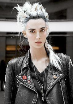 Ruby Aldrigde model Street Style Paris Fashion week autumn winter 2013-2014