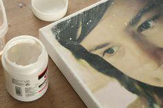 DIY foto op canvas