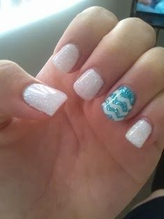 French tips with rhinestone nail design 2014