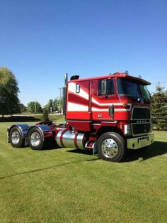 Brown w-Red & White Stripes COE Ford Hauler