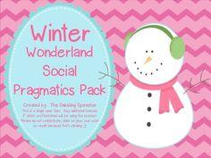 Lots of fun winter themed social skill activities!