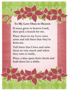 birthday sayings for love ones in heaven | Lenora's Hangout: To Love Ones in Heaven