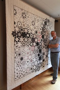 Bruce Seeds quilts; gorgeous hexagonal unique designs.  Just wow.