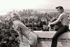 Marilyn Monroe and Elvis Presley. 1955.