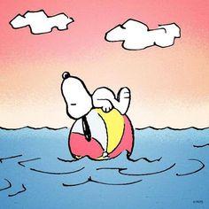Snoopy's taking it easy.