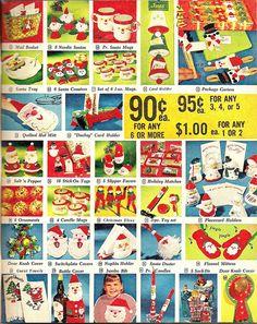 Vintage Christmas catalog.