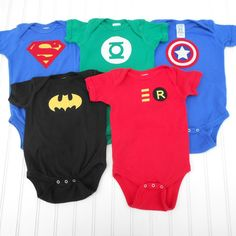 Super Hero Deluxe Onesie Set (Superman, Green Lantern, Avengers Captain America, Batman and Robin)