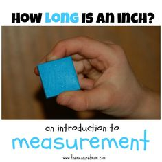 How long is an inch? (an introduction to linear measurement) - simple math for preK & K - the measuredmom.com.  Send it home and have them work with their family member to make a list of what they have at home that measures the same size.