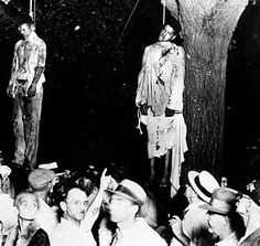 """Lawrence Beitler (1885 - 1960[1]) was a studio photographer who on August 7, 1930, took a photograph of the lynching of Thomas Shipp and Abram Smith. The photograph later sold thousands of copies[2] and inspired the political poem """"Strange Fruit"""" by the Jewish poet Abel Meeropol. The poem was later transformed into a song and was most famously performed by Billie Holiday."""