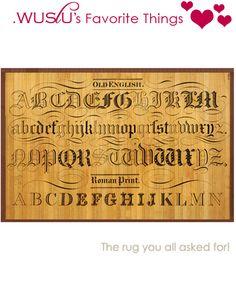 $17.50 {WUSLU's Favorite Things} Typography bamboo Rug 2'x3' ~Enjoy one decor deal a day from WUSLU ~www.wuslu.com