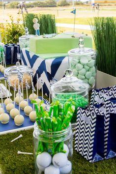 boy's 7th golf-themed birthday party