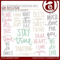 We Do Love Brushes and Stamps - Photoshop Brushes DesignerDigitals