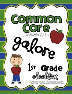 This Common Core State Standards checklist is for 1st grade ELA {English Language Arts}.  It's a great way to organize the Common Core and to make ...