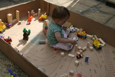 Up-cycle a big cardboard box: Cardboard Box Town