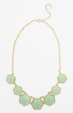 All about this mint statement necklace (only $18)