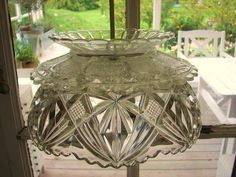 DIY lamp from crystal bowl