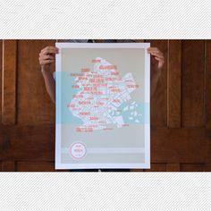 Brooklyn Map #map #brooklyn #nyc #silkscreen #print