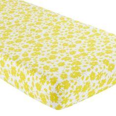 Crib sheet- yellow floral