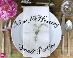 Check out these ideas for hosting small parties!