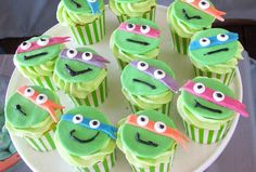 Awesome TMNT Cupcakes from this Teenage Mutant Ninja Turtles themed birthday party with so many great ideas via Kara's Party Ideas KarasPartyIdeas.com #TMNT #tmntparty #tee...