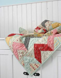 .pretty chevron quilt
