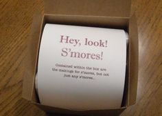 S'more favors, please! | Offbeat Bride