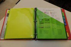 School info binder idea...good for organizing college stuff